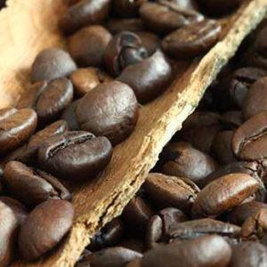 Nyristede kaffebønner