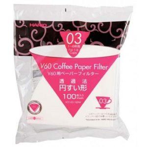 Hario 03 kaffefiltre, 100 stk.